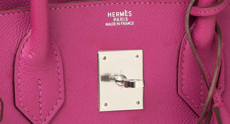 Hermès Cyclamen Epsom Leather Birkin 30cm