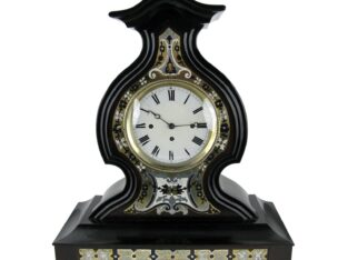 19TH CENTURY MARQUETRY TABLE CLOCK