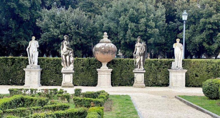 Italian Stone Garden Sculpture of Roman 1960