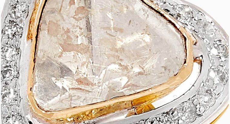 M's Gems Neha Heart Diamond Ring in 18kt Gold