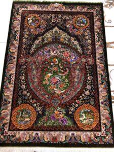 Luxury silk handmade Rug for sale