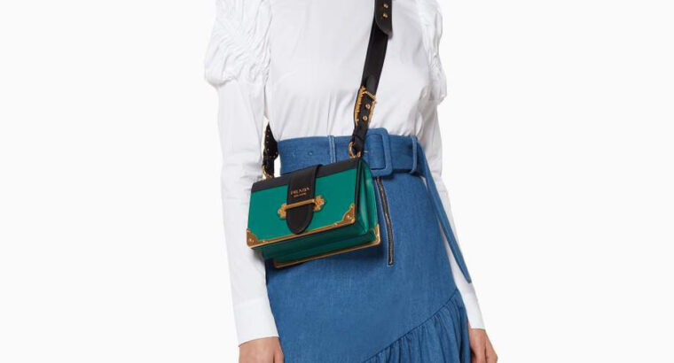 Prada Cahier Shoulder Bag in Leather