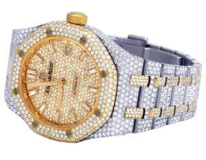 Audemars Piguet Royal Oak 18K Rose/ Steel Midsize 37MM Diamond Watch 22.35 Ct