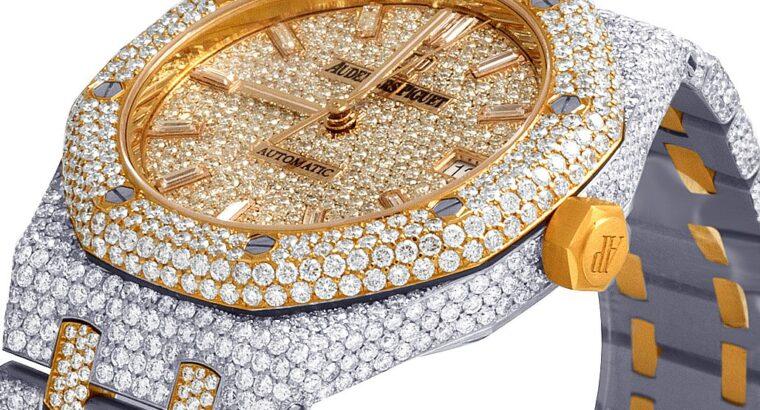 Audemars Piguet Royal Oak 18K Rose/ Diamond Watch 22.35 Ct