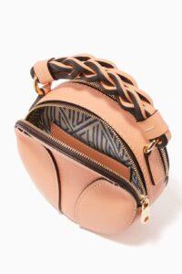 Chloé Mini Daria Round Bag in Grained & Shiny Calfskin