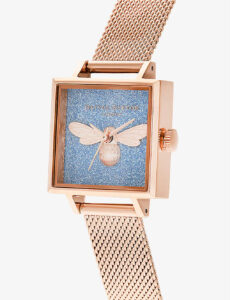 OLIVIA BURTON OB16GD68 glitter-embellished gold-tone stainless steel watch