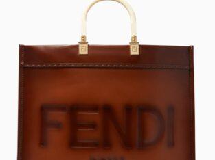 FENDI Sunshine Large Tote Bag in Leather