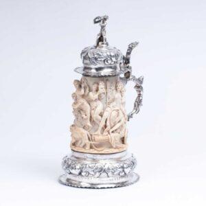 Extraordinary ivory jug 'Triumphzug des Dionysos'
