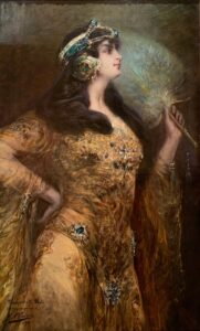 PORTRAIT OF MADEMOISELLE MATI BY GEORGES CLAIRIN