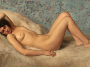 A RECLINING NUDE PAINTING BY PAUL SIEFFERT (1874-1957)