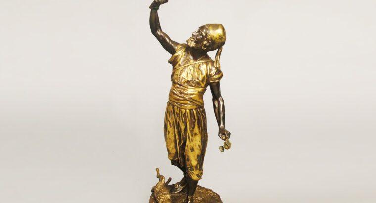 Impressive 'THE ARAB FALCONER' by Pierre-Jules Mene